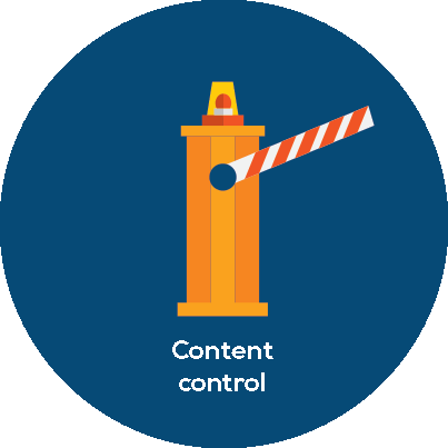 content control circle - Mobile Threat Defense