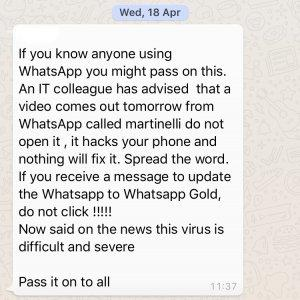 image1 300x300 - WhatsApp scams 'Martinelli' and 'WhatsApp Gold' - Do They Really Pose a Threat to Mobile Devices?