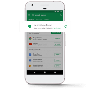 Google Play protection against malware