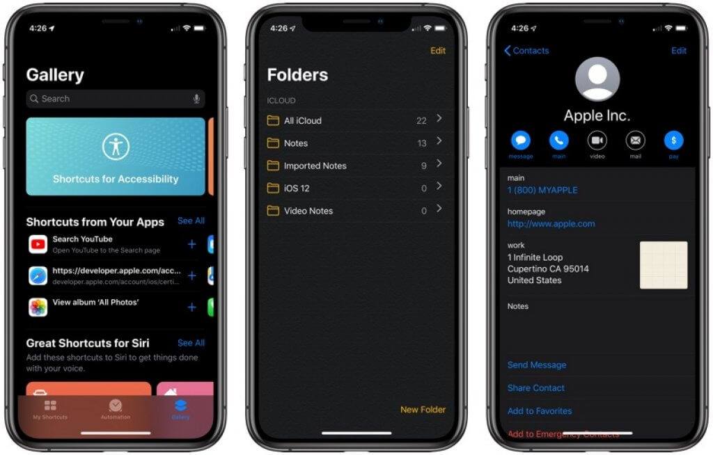 dark mode feature on Apple iPhone